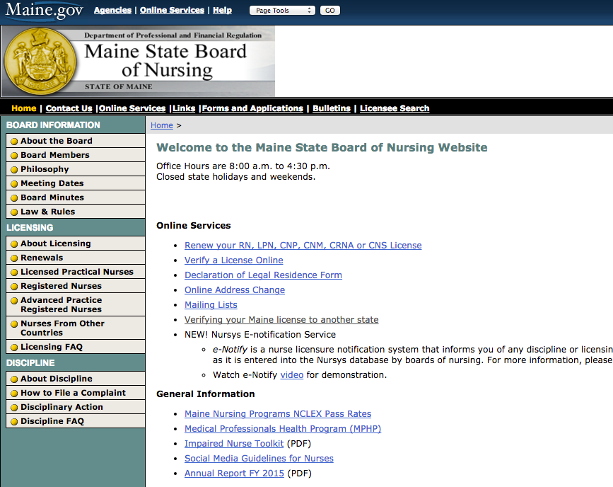 """RN License Verification Maine"""