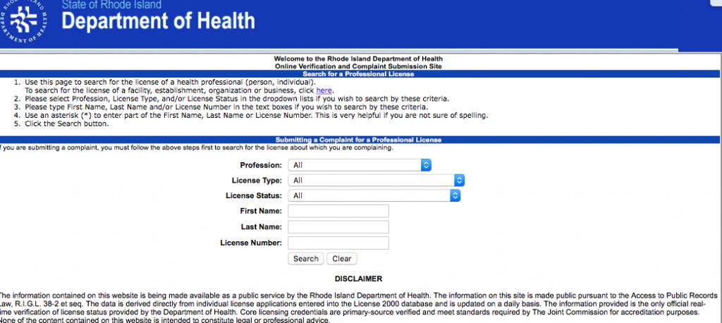 """RN License Verification RI"""